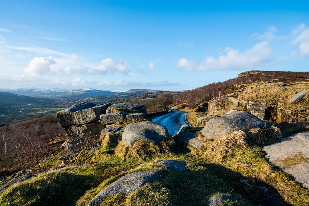 Scenic winter walks in the Peak District