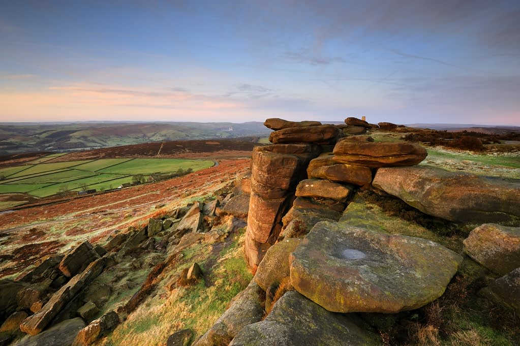 Stanage Edge, romantic places in the Peak District
